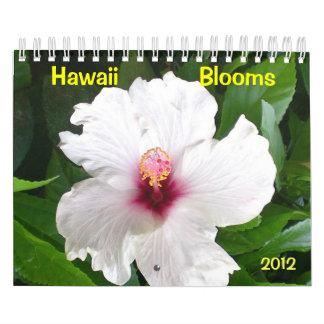 Floraciones de Hawaii con las flores Calendario De Pared