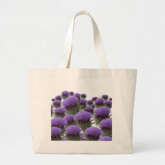 Floraciones de la alcachofa bolsa tela grande