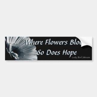 Floraciones de la esperanza pegatina para auto