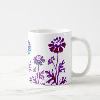 floraciones de la mirada furtiva taza básica blanca