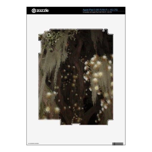 Floraciones de la noche pegatina skin para iPad 3