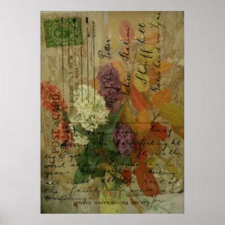Floraciones de la postal posters