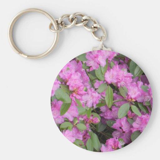 Floraciones de la primavera llavero redondo tipo pin
