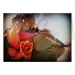 Floraciones de la yuca tarjetas