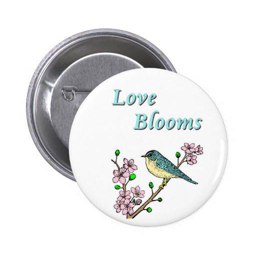 Floraciones del amor pin redondo 5 cm