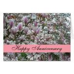 Floraciones del árbol de tulipán tarjeta