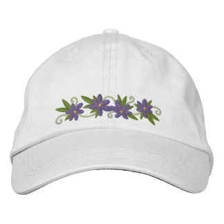 Floraciones del azafrán gorra de béisbol bordada