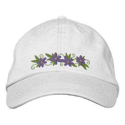 Floraciones del azafrán gorras de beisbol bordadas