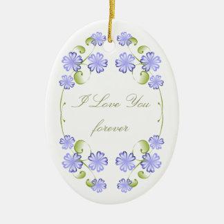 Floraciones del bígaro de la acuarela adorno ovalado de cerámica