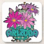 Floraciones del cactus de Arizona Posavasos De Bebidas