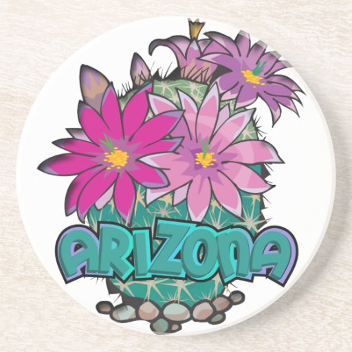 Floraciones del cactus de Arizona Posavasos De Arenisca