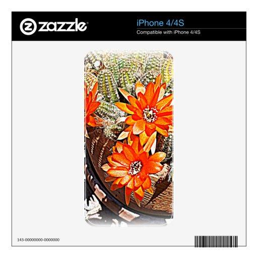 Floraciones del cactus de la cuerda skins para eliPhone 4S