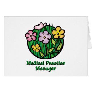 Floraciones del encargado de la práctica médica felicitaciones