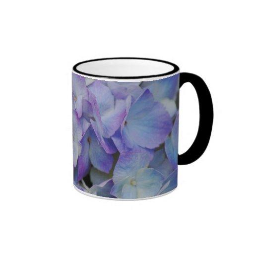 Floraciones del Hydrangea Taza De Café