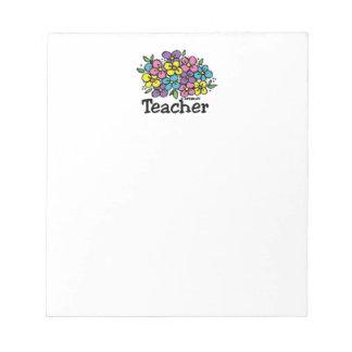 Floraciones del profesor bloc de notas