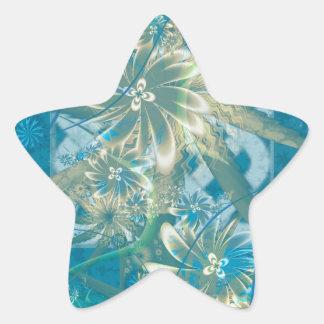 Floraciones del río Tidal Pegatinas Forma De Estrellaes Personalizadas