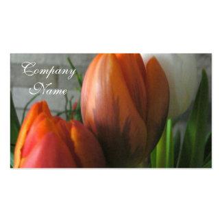 Floraciones del tulipán plantilla de tarjeta de negocio