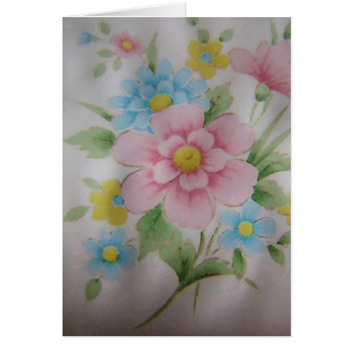 Floraciones delicadas tarjeta pequeña
