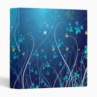 Floraciones en el azul - carpeta de uso múltiple