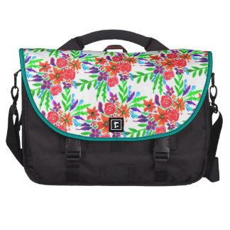 Floraciones florales de la primavera de la bolsas para portátil