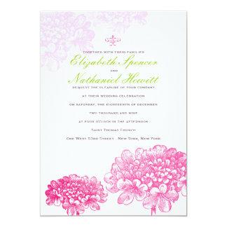 Floraciones hermosas que casan la invitación en
