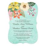 Floraciones hermosas que casan la invitación/la