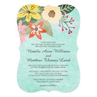 Floraciones hermosas que casan la invitación/la invitación 12,7 x 17,8 cm