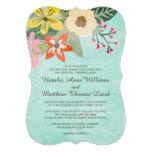 Floraciones hermosas que casan la invitación/la ag