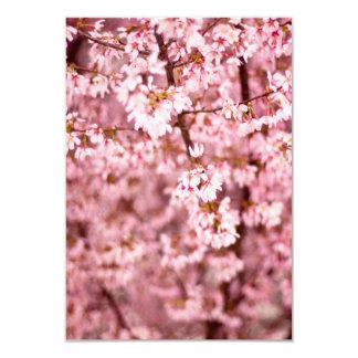 """Floraciones japonesas de la cereza invitación 3.5"""" x 5"""""""