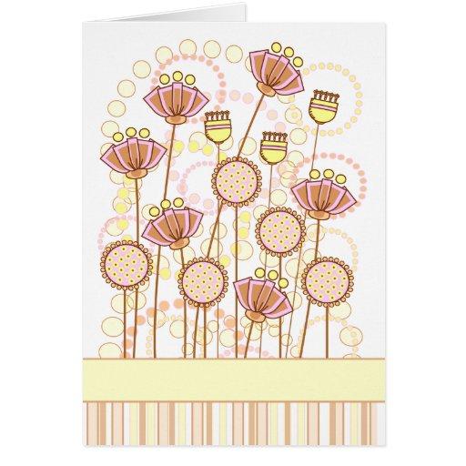 Floraciones maravillosas dulces tarjeta pequeña