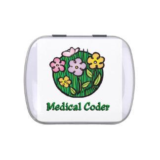 Floraciones médicas del codificador latas de dulces