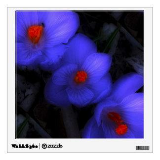 Floraciones púrpuras azules hermosas del azafrán vinilo adhesivo