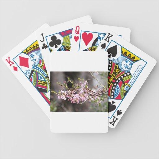 Floraciones púrpuras baraja de cartas