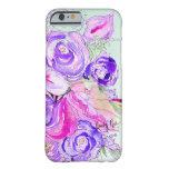 Floraciones púrpuras funda de iPhone 6 barely there