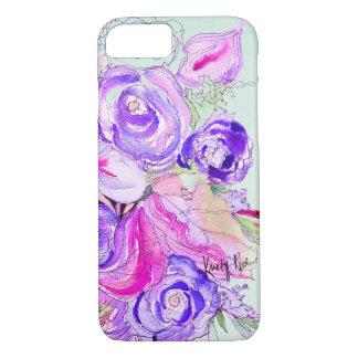Floraciones púrpuras funda iPhone 7