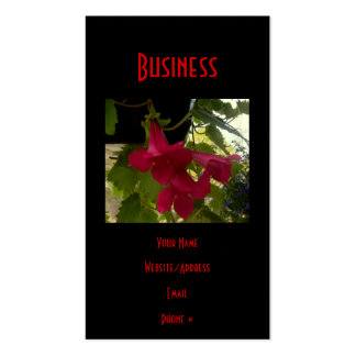 Floraciones rojas de conexión en cascada de Lofus Tarjeta De Visita