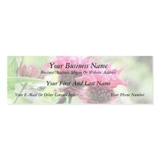 Floraciones rojas del bálsamo de abeja tarjeta de negocio