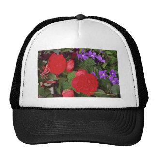 Floraciones rojas gorro