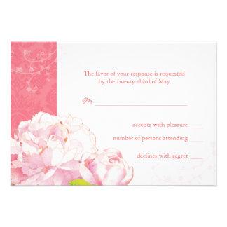 Floraciones rosadas del Peony + Remolinos que casa Comunicado Personal