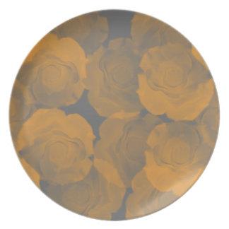 Floraciones subiós croma lamentable del melocotón plato de cena