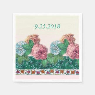 floraciones y frontera exquisitas del asianesque servilletas de papel