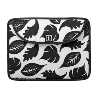 FLORAL24 BLACK AUTUMN FALL LEAVES VARIETY ASSORTME SLEEVE FOR MacBooks