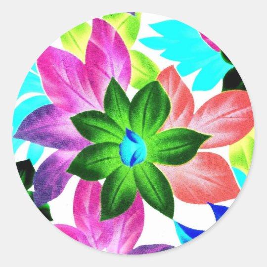 Floral2i Classic Round Sticker
