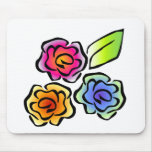 floral3 mouse pads