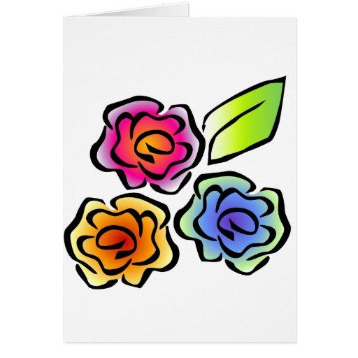 floral3 tarjeta de felicitación