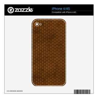 floral72-brown FLORAL BROWNS CHOCOLATE  ABSTRACT R iPhone 4S Skin