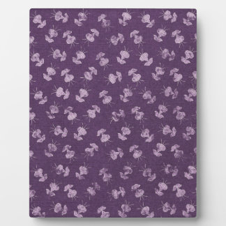 floral79 FLORAL PURPLE WHITE FLOWERS JELLYFISH PAT Display Plaque