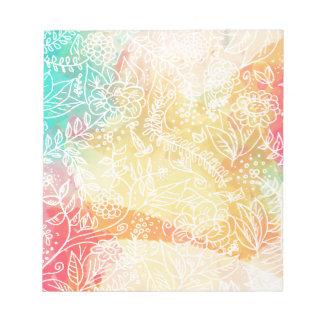 floral-01 bloc de notas