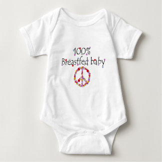 Floral 100% Breastfed Baby T Shirt