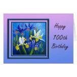 Floral 100th Birthday Congratulations Card